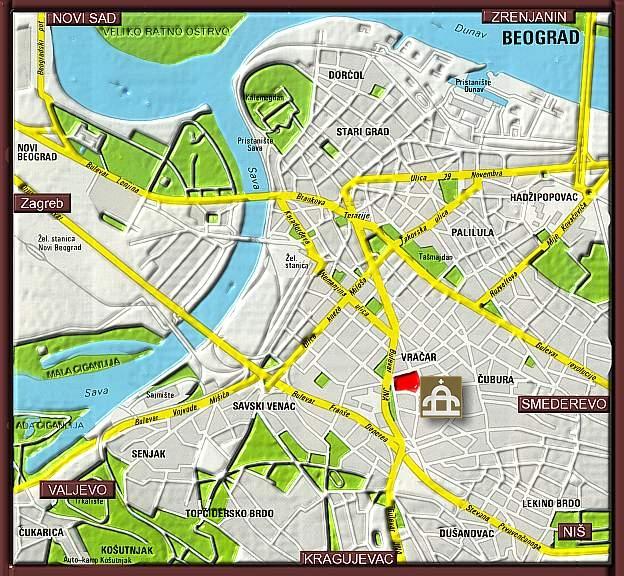 Mapa Beograda Hram Svetog Save Superjoden